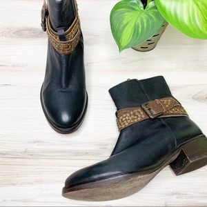 Anthro Jasper & Jeera Embellished Wrapped Boots